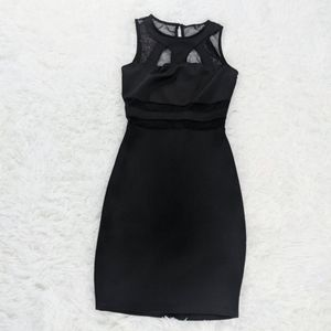 Black Cutout Mesh Dress